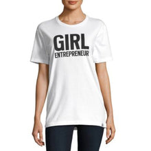 Load image into Gallery viewer, Girl Entrepreneur in white, adult and youth sizes, a collaboration with Bobbi Brown, #entrepreneur, #girlentrepreneur, #girlwonderful