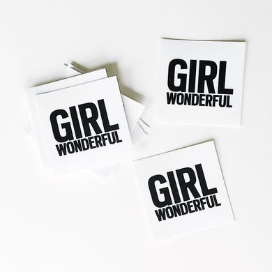 GIRL WONDERFUL VINYL STICKER