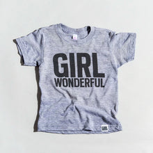 Load image into Gallery viewer, Girl Wonderful tri-blend tee, youth and adult sizes,  #girlstrong #girlpower #girlwonderful