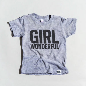 Girl Wonderful tri-blend tee, youth and adult sizes,  #girlstrong #girlpower #girlwonderful