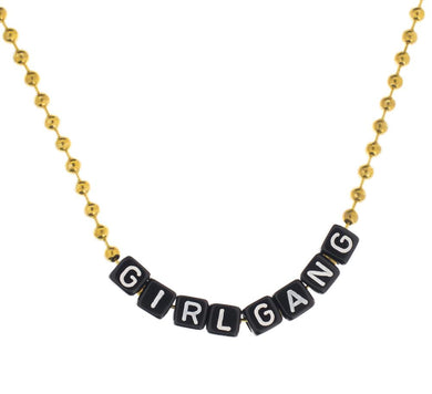 Girl Gang Necklace a great gift for girls, #girlwonderful, #girlpower