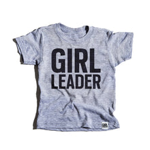 Load image into Gallery viewer, Girl Leader tri-blend tees, youth and adult sizes, #girlpower #girlleader #girlstrong #girlwonderful