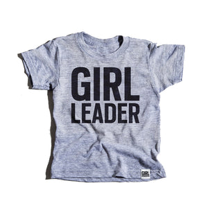 Girl Leader tri-blend tees, youth and adult sizes, #girlpower #girlleader #girlstrong #girlwonderful
