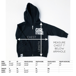GIRL STRONG FULL-ZIP HOODIE