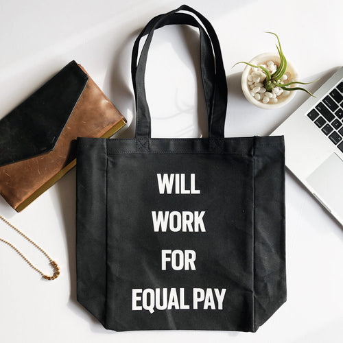 Tote bag, Equal Pay for Women, Woman Power