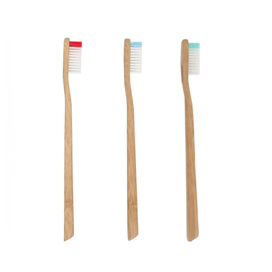 Brosse à dents en bambou - Modèle adulte medium bicolore