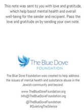 Load image into Gallery viewer, 12 Count Box of Blue Dove Foundation Gratitude Cards