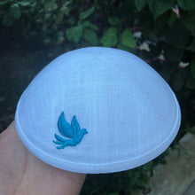 Load image into Gallery viewer, Blue Dove Kippah