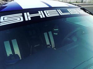Shelby Windshield Banner