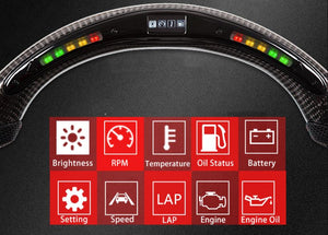 S197 Carbon Fiber LED Steering Wheel