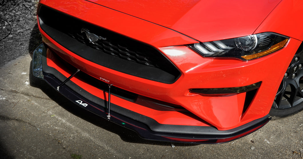 2018+ Ford Mustang Front Splitter (Ecoboost & GT Non-Performance Package)