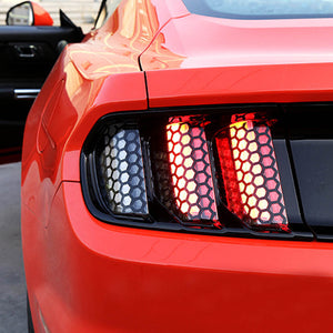 Tail Light Honeycomb Overlay Vinyl