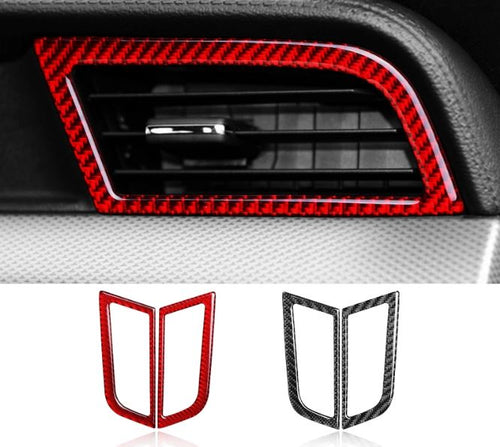 Red/Black Carbon Fiber Side Air Vents Trim