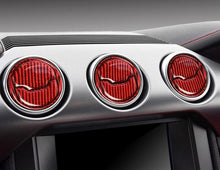 Load image into Gallery viewer, Red/Black Carbon Fiber Central Air Vents Trim