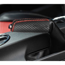 Load image into Gallery viewer, Split Carbon Fiber Leather Handbrake Cover