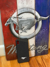 Load image into Gallery viewer, Carbon Fiber Mustang Phone Case