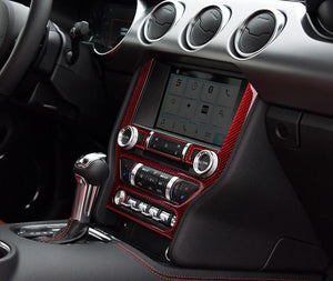 Red/Black Carbon Fiber Center Console Trim