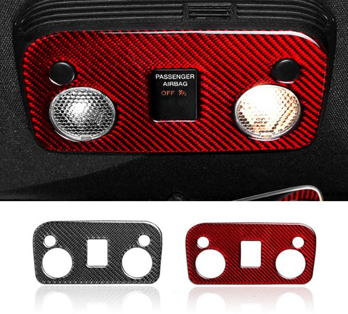 Red/ Black Carbon Fiber Reading Lights Cover