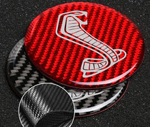 Load image into Gallery viewer, Red/Black Carbon Fiber Cup Holder Coaster & Storage Tray Trim