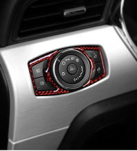 Load image into Gallery viewer, Red/Black Carbon Fiber Headlight Control Switch