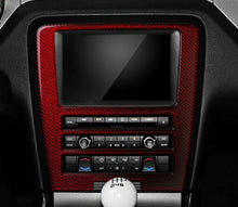 Load image into Gallery viewer, Red/Black Carbon Fiber Center Console Trim