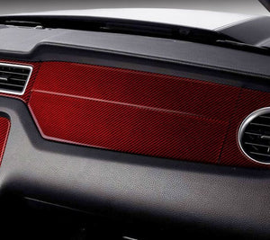 Red/Black Carbon Fiber Dashboard Trim Cover