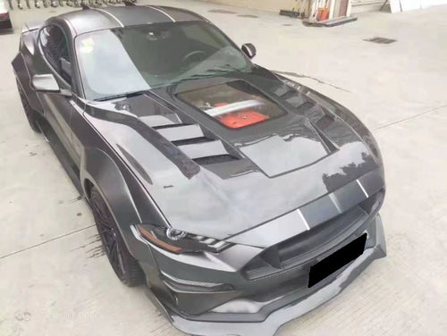Carbon Fiber Hood with Clear Engine Display