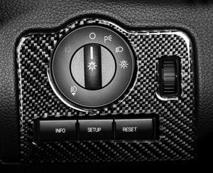 Red/Black Carbon Fiber Headlight Control Switch