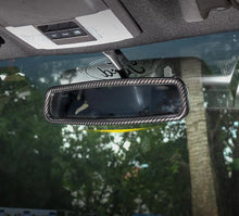 Load image into Gallery viewer, Carbon Fiber Rear View Mirror Trim