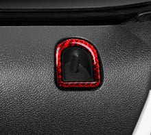 Load image into Gallery viewer, Red/Black Carbon Fiber Door Lock Surround Trim