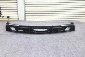 Dual Exhaust Carbon Fiber Rear Diffuser