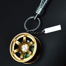 Load image into Gallery viewer, TE37 Style Wheel Keychain