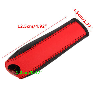 Red & Black Leather Handbrake Cover