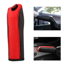 Load image into Gallery viewer, Red & Black Leather Handbrake Cover