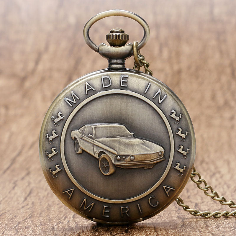 Classic Mustang Antique Pocket Watch