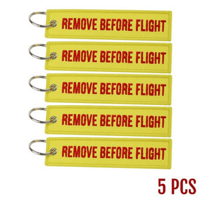 Remove Before Flight Key Tag (5 Pieces)
