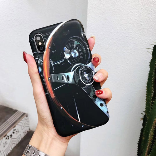 Classic Mustang Steering Wheel Phone Case