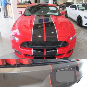 "10"" Twin Color Racing Stripes"
