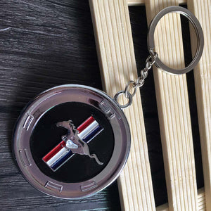 Ford Mustang Faux Gas Cap Keychain