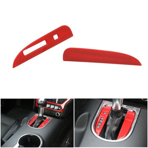 Red Transmission Shifter Surround Trim