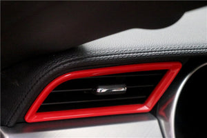 Red Side Air Vents Trim