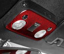 Load image into Gallery viewer, Red/ Black Carbon Fiber Reading Lights Cover