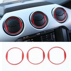 Red Central Air Vents Trim