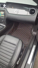 Load image into Gallery viewer, Premium Diamond Stitched Leather Floor Mats