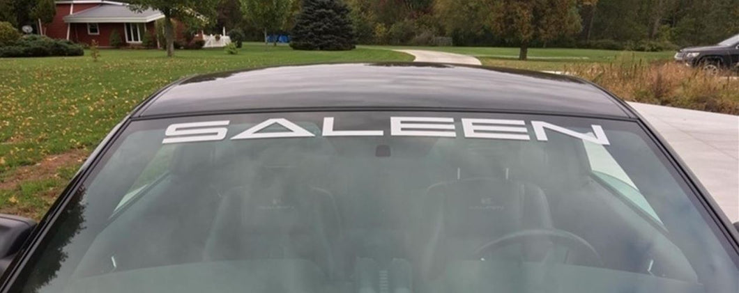 Saleen Windshield Banner
