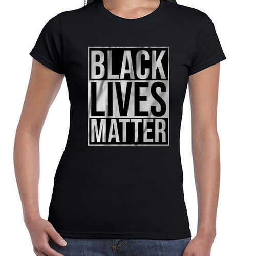 Black Lives Matter Typography Awareness Tshirt Shirt Lady Fit Ladies 6459