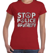 Load image into Gallery viewer, Stop Police Brutality BLM Movement Awareness Tshirt Shirt Lady Fit Ladies 6461