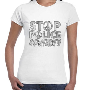 Stop Police Brutality BLM Movement Awareness Tshirt Shirt Lady Fit Ladies 6461