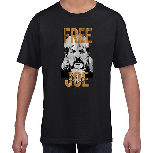 FREE Joe Exotic The Tiger King Graphic Tshirt Shirt Kids Youth Children 6444
