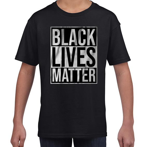 Black Lives Matter Typography Awareness Tshirt Shirt Kids Youth Children 6459